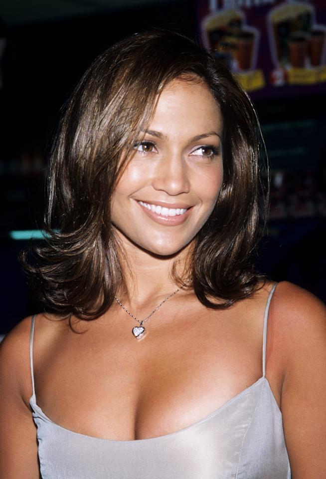 <p>Lopez attended a movie premiere with neutral makeup, radiant skin, and a medium-length cut that was flipped outward at the ends.</p>