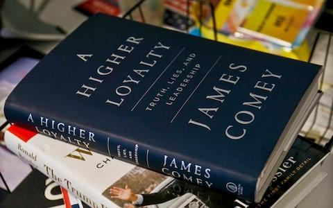 Mr Comey's memoir is published on Tuesday - Credit: AP