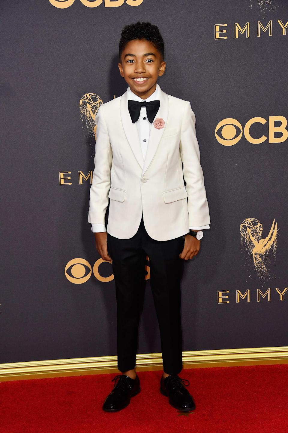 <p>Miles Brown attends the 69th Primetime Emmy Awards at the Microsoft Theater on Sept. 17, 2017, in Los Angeles. (Photo: Getty Images) </p>