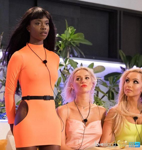 Cynthia Taylu was the first black contestant to appear on the Australian version of Love Island. (Photo: Channel Nine )