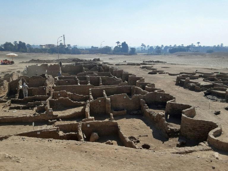 "The excavation team say the ancient city uncovered near Luxor is the ""largest"" ever found in Egypt and dates back to a golden age during the reign of Amenhotep III, 3,000 years ago"