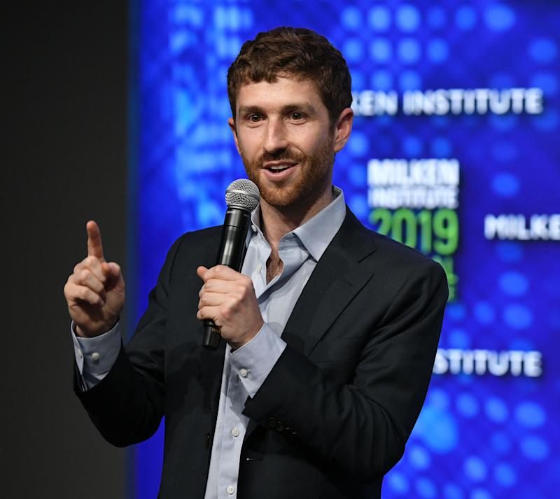 BEVERLY HILLS, CALIFORNIA - APRIL 29: Tristan Harris participates in a panel discussion during the annual Milken Institute Global Conference at The Beverly Hilton Hotel on April 29, 2019 in Beverly Hills, California. (Photo by Michael Kovac/Getty Images)
