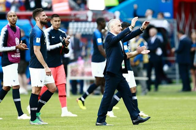 France coach Didier Deschamps relieved his young France team came through a tough opener against Australia with three points (AFP Photo/BENJAMIN CREMEL)