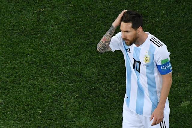Argentina's forward Lionel Messi's dream of finally lifting a major title is in jeopardy (AFP Photo/Kirill KUDRYAVTSEV)