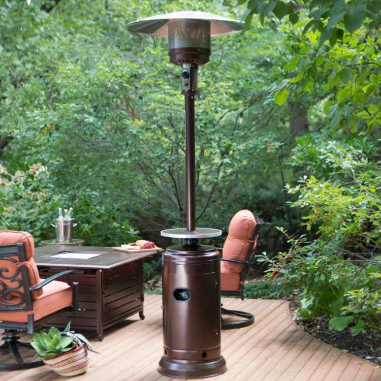 Coral Coast Hammered Bronze Commercial Patio Heater with Table. (Photo: Walmart)