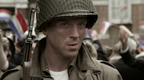 <p>OK fine, if you've watched even five minutes of Band of Brothers you'd have been hard pressed not to notice Lewis who, playing Major Richard Winters in all 10 episodes and earning himself a Golden Globe nomination in the process, was one of the show's central characters. Lewis has since starred in Homeland, Billions, and played Steve McQueen in Quentin Tarantino's Once Upon a Time in Hollywood, so it's fair to say his American accent game is strong.</p>