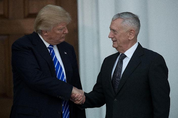 President-elect Donald Trump (L) says retired United States Marine Corps general James Mattis was opposed to allowing US personnel to torture suspects (AFP Photo/Drew Angerer)