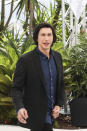 Adam Driver poses for photographers at the photo call for the film Annette at the 74th international film festival, Cannes, southern France, Tuesday, July 6, 2021. (Photo by Vianney Le Caer/Invision/AP)