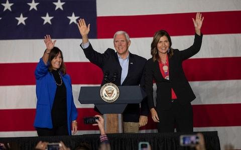 Kristi Noem has become South Dakota's first female governor - Credit: AP