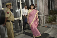 <p>Hers was an iconic rise - from a trainee to becoming the first Indian woman to head a bank and consistently getting featured among the most powerful businesswomen in the country.</p> <p>However, Chanda Kochhar's downfall was swift. The former managing director and chief executive office of ICICI Bank, Kochhar has been accused of misusing her position and favouring Videocon Group in various lending practices. This was allegedly in return for an investment by Videocon Group's owner Venugopal Dhoot in a business that Kochhar's husband Deepak Kochhar had set up, along with two relatives.</p> <p>In October 2018 Kochhar quit as the CEO of ICICI. The Enforcement Directorate filed a criminal case with money laundering charges against Kochhar, her husband and Dhoot to probe allegations of irregularities and corruption in sanctioning the loan.<br><br><strong>Image credit: </strong>Chanda Kochhar and her husband Deepak Kochhar come out of Enforcement Directorate office after they were summoned for alleged bank loan fraud and money laundering case, at Lok Nayak Bhawan on May 13, 2019 in New Delhi, India. (Photo by Sanchit Khanna/Hindustan Times via Getty Images)</p>