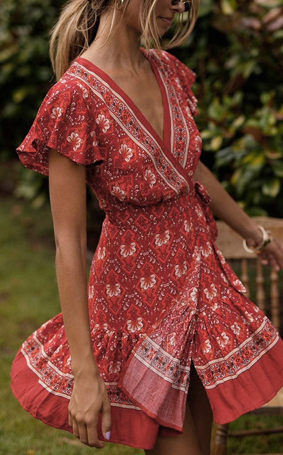 <p>This <span>Zesica Summer Wrap V-Neck Bohemian Floral Print Dress</span> ($15 - $37) is Amazon's top seller on the whole site.</p>