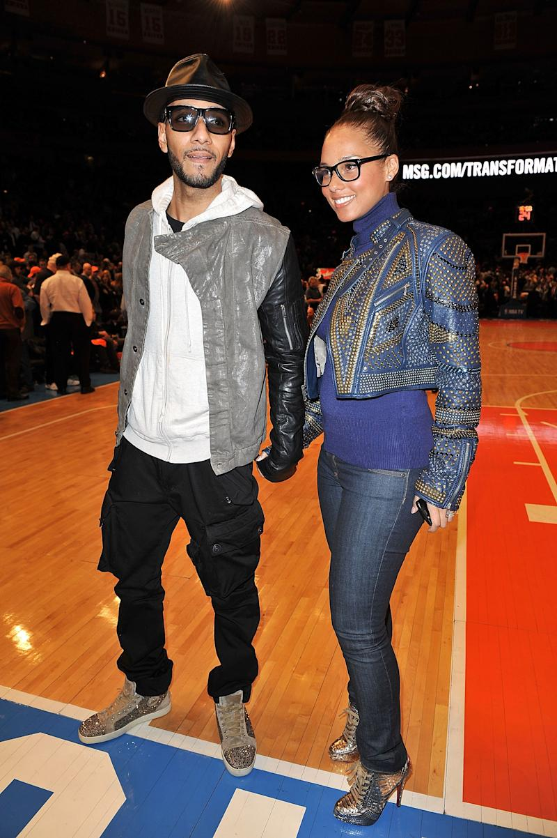 Alicia Keys proved that her heels were made for walking, while attending the Miami Heat vs New York Knicks game at Madison Square Garden with Swizz Beatz.