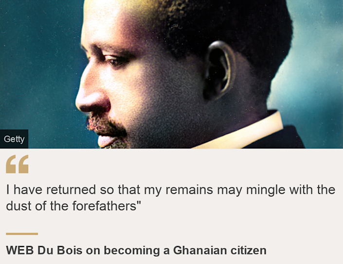 """""""I have returned so that my remains may mingle with the dust of the forefathers"""""""", Source: WEB Du Bois on becoming a Ghanaian citizen, Source description: , Image: WEB Du Bois, 1911 - image has been digitally colorised using a modern process"""