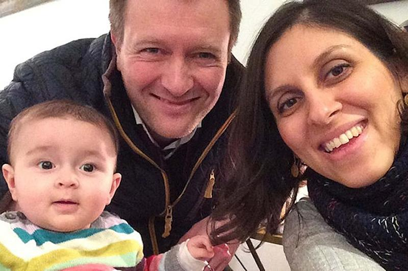 Richard Ratcliffe with his wife Nazanin Zaghari-Ratcliffe before her arrest in 2016 (PA)