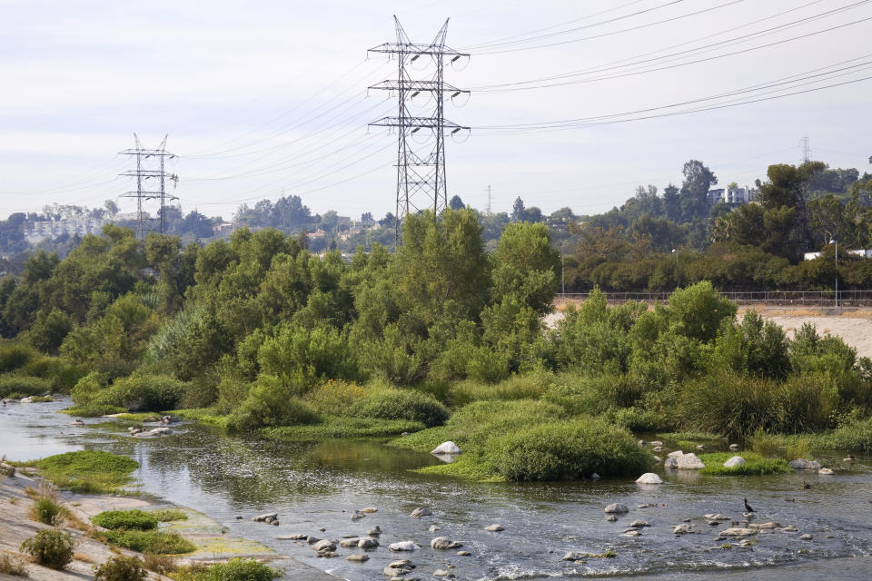 A new augmented reality project from Verizon Media lets people virtually explore the Los Angeles River. (Photo: Getty Images)