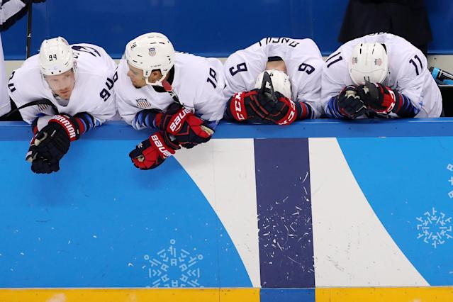 Things weren't easy for the Americans. (Getty)