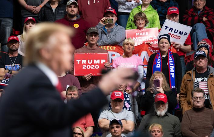A Trump rally in Green Bay, Wis., April 27, 2019. (Photo: Saul Loeb/AFP/Getty Images)