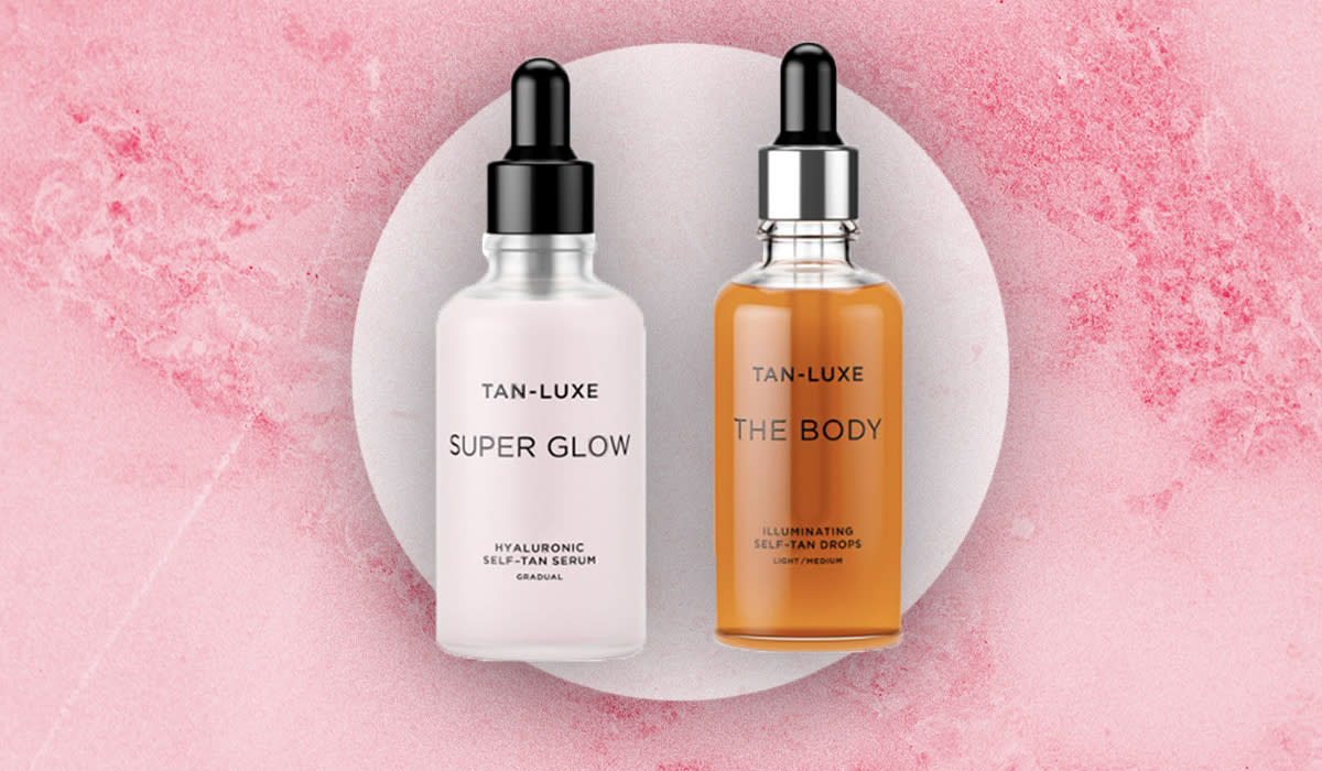 The Tan-Luxe set is the safest way to get the most natural-looking tan in town. (Photo: HSN)