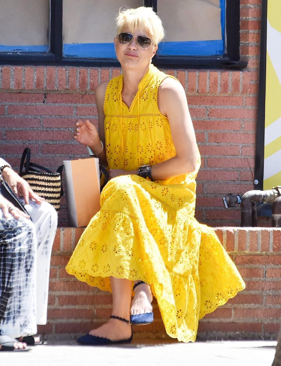 <p>Selma Blair steps out in a bright yellow dress on June 10 in L.A. </p>