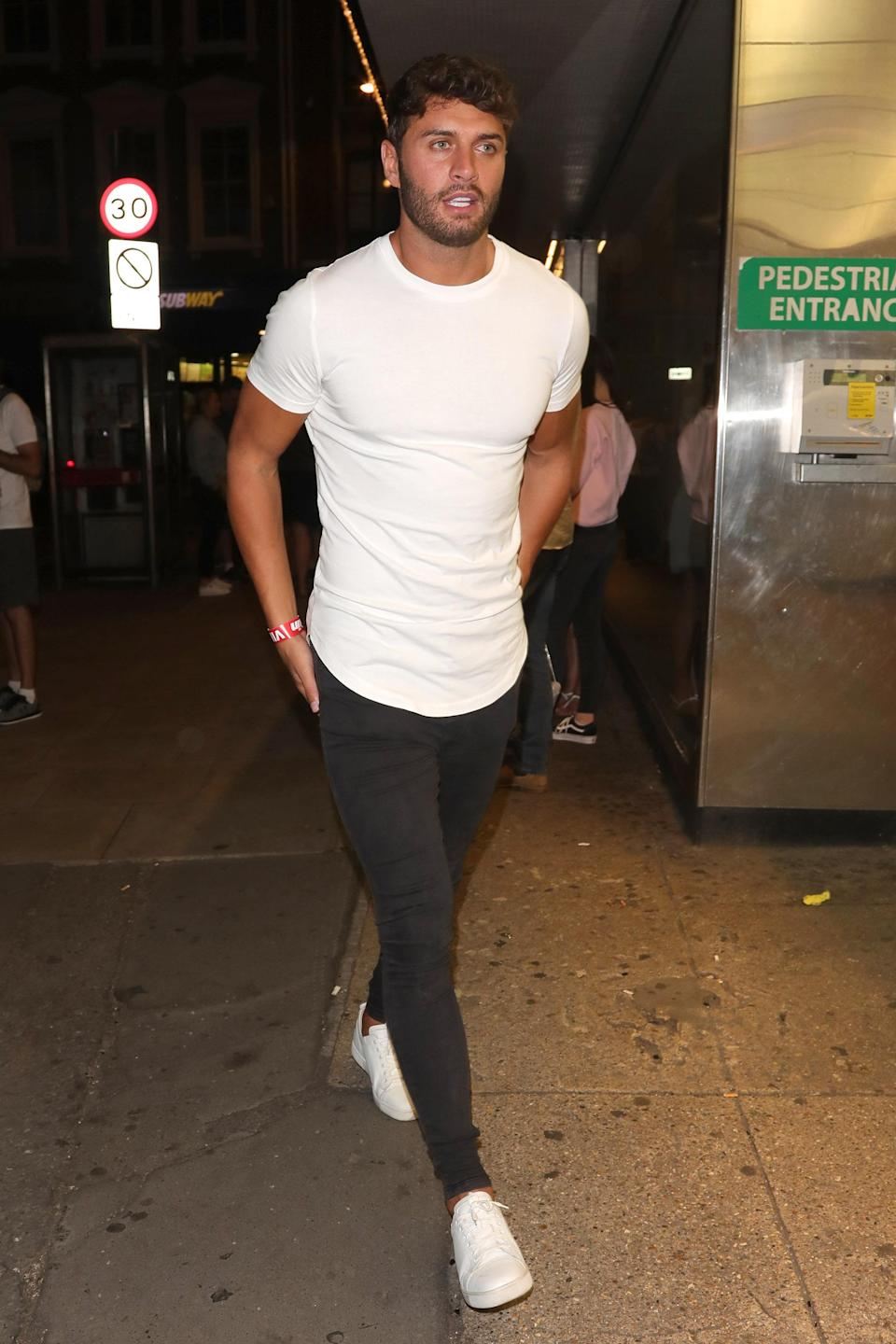 LONDON, ENGLAND – JULY 30: Mike Thallasitis attending The Sun's Love Island 2018 finale viewing party at Covent Garden's Tropicana sighting on July 30, 2018 in London, England. (Photo by Mark R. Milan/GC Images)