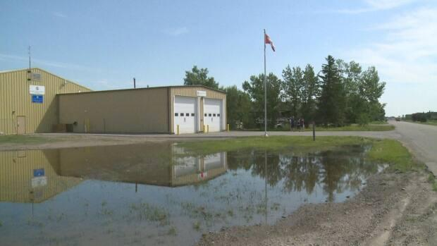 The Langdon Library Society hoped to use the Langdon fire hall as a location for a new library, but it was deemed too expensive by Rocky View County administrators. (Helen Pike/CBC - image credit)