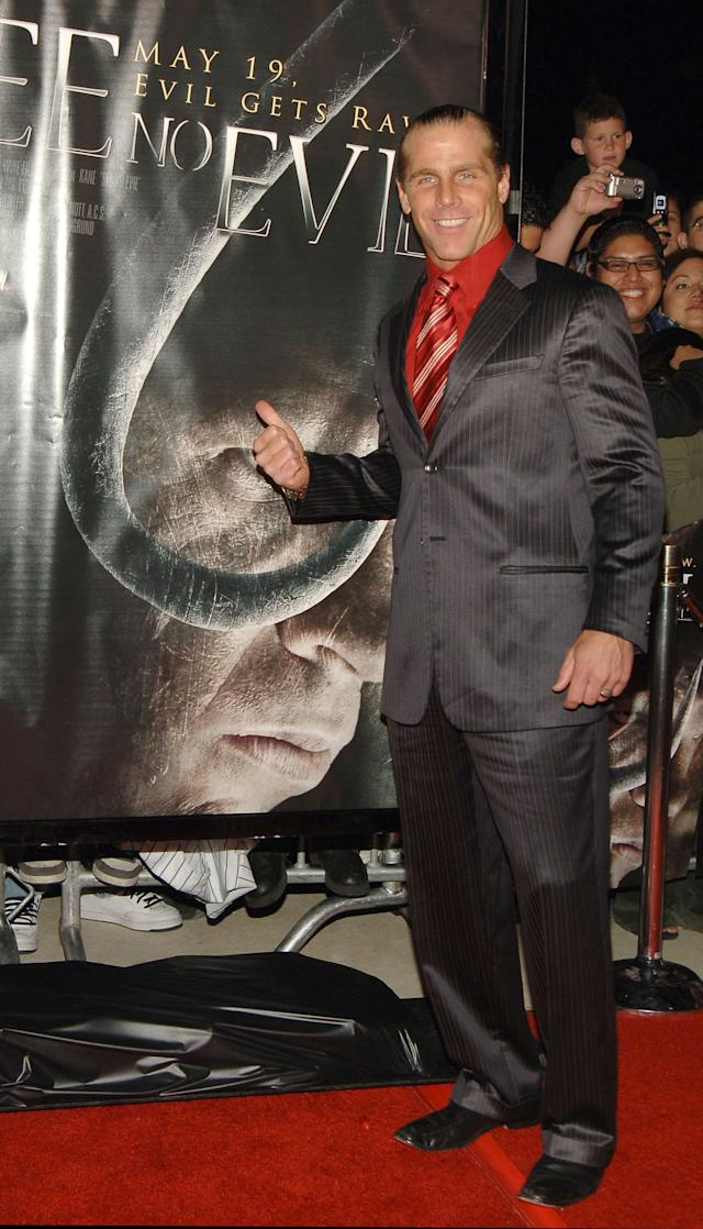 Shawn Michaels, WWE Raw Superstar during 'See No Evil' Premiere - Arrivals in Los Angeles, California, United States. (Photo by J.Sciulli/WireImage for LIONSGATE)