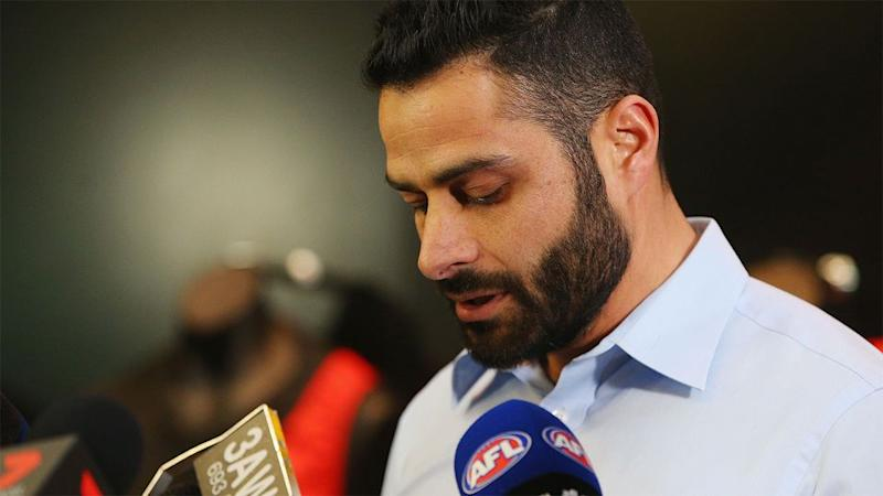 Fahour now has a nervous wait as the AFL tribunal consider his future. Source: 7 News