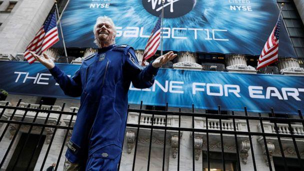 PHOTO: Sir Richard Branson stands outside the New York Stock Exchange ahead of the Virgin Galactic (SPCE) IPO in New York, Oct. 28, 2019. (Brendan Mcdermid/Reuters, FILE)