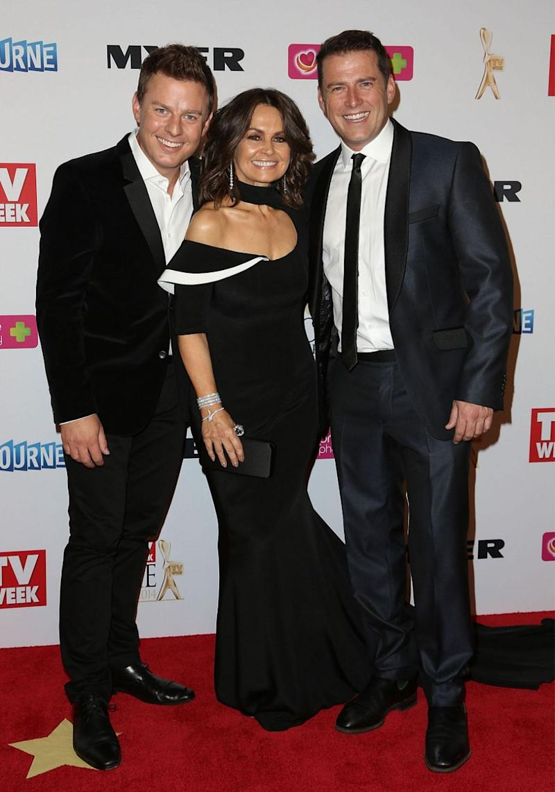 When Ben Fordham (L) hosted the show with Lisa in June while Karl was away, ratings improved. Source: Getty