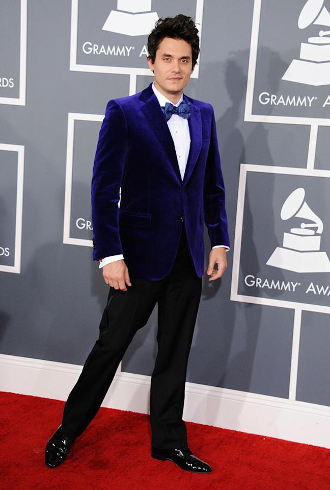 John Mayer arrives at the 55th Annual Grammy Awards at the Staples Center in Los Angeles, CA on February 10, 2013.
