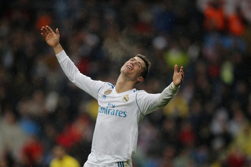 Fans jeered Cristiano Ronaldo and Real Madrid after their latest loss at the Bernabeu. (AP)