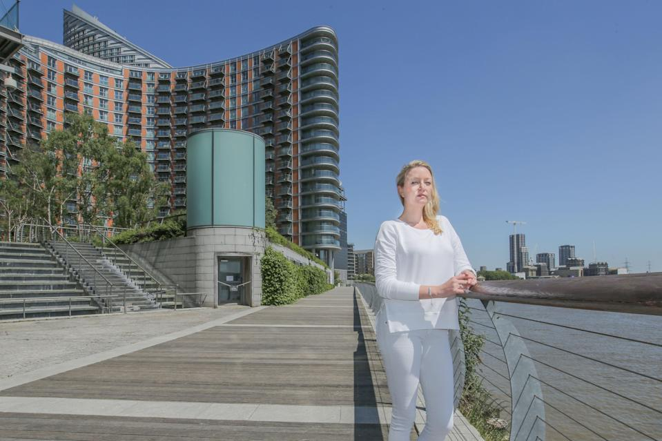 No choice: Natalie Carter says she can no longer afford to live in New Providence Wharf due to the £8,000 annual service charge but is unable to sell (Matt Writtle)