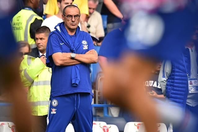 Happy camp: Maurizio Sarri is making changes to bring the players closer together