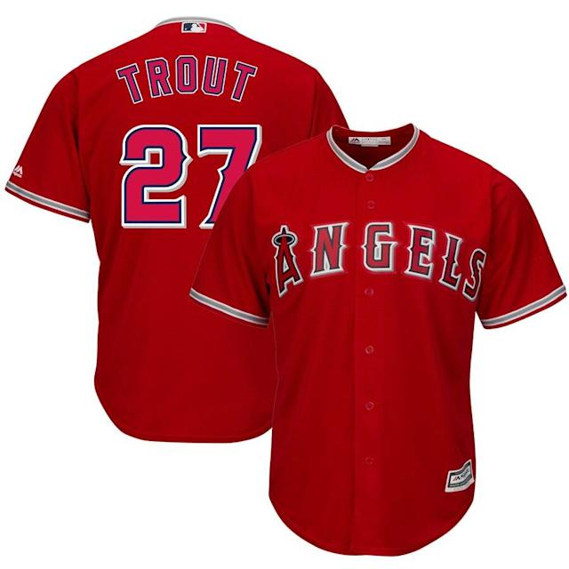 Trout Angels Cool Base Player Jersey