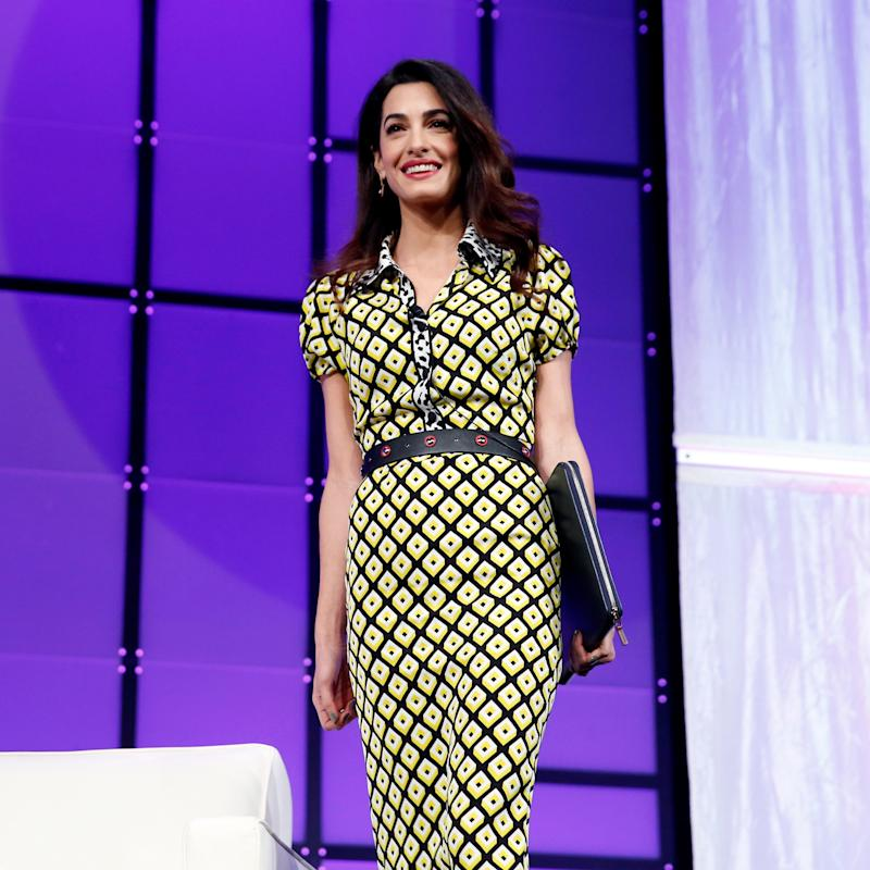 Amal Clooney Steps Out in Straight-From-The-Runway Diane Von Furstenberg Fall 2018