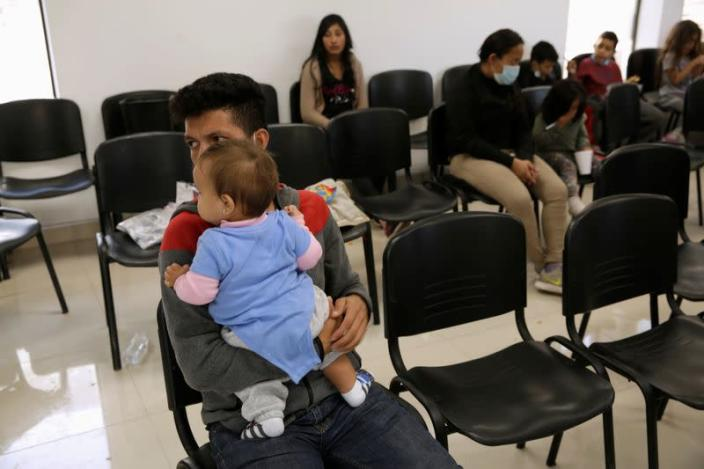 Manuel de Jesus Martinez, an asylum-seeking migrant from Honduras, who was airlifted from Brownsville to El Paso, Texas, and deported from the U.S. with his 10-month-old daughter Stephanie, in Ciudad Juarez