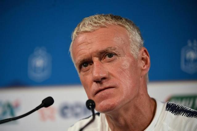 France coach Didier Deschamps has called for the focus to be on the pitch and not on politics when his side face Turkey (AFP Photo/Lucas Barioulet)