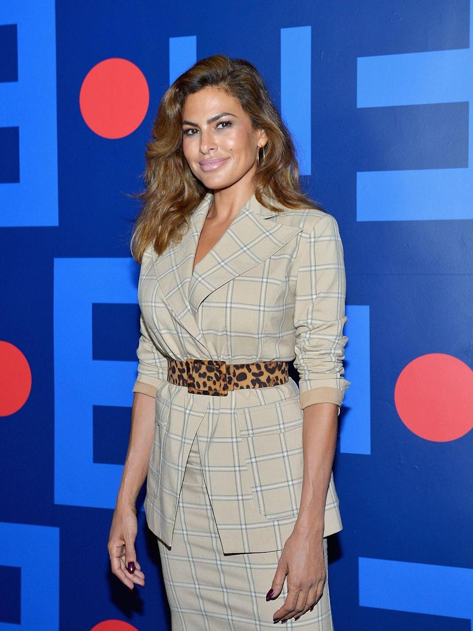 "<p>One of Eva Mendes' first summer jobs was at a fast-food restaurant Hot Dog on A Stick where she sold lemonade, French fries, and, well, hot dogs on sticks. According to <em><a href=""https://www.thedailymeal.com/entertain/celebrities-fast-food-professions-slideshow/list"" rel=""nofollow noopener"" target=""_blank"" data-ylk=""slk:The Daily Meal"" class=""link rapid-noclick-resp"">The Daily Meal</a></em>, the actress worked at the Glendale Galleria location where she earned $4.25/hour.</p>"