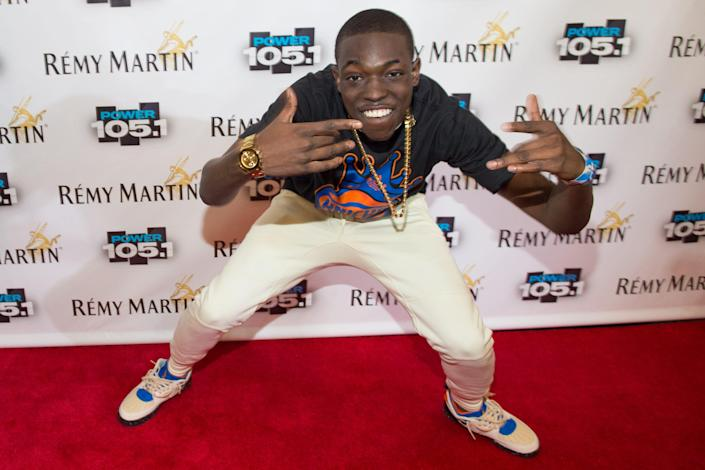 Bobby Shmurda arrives at Power 105.1's Powerhouse 2014 at Barclays Center in Brooklyn, New York on Oct. 30, 2014.