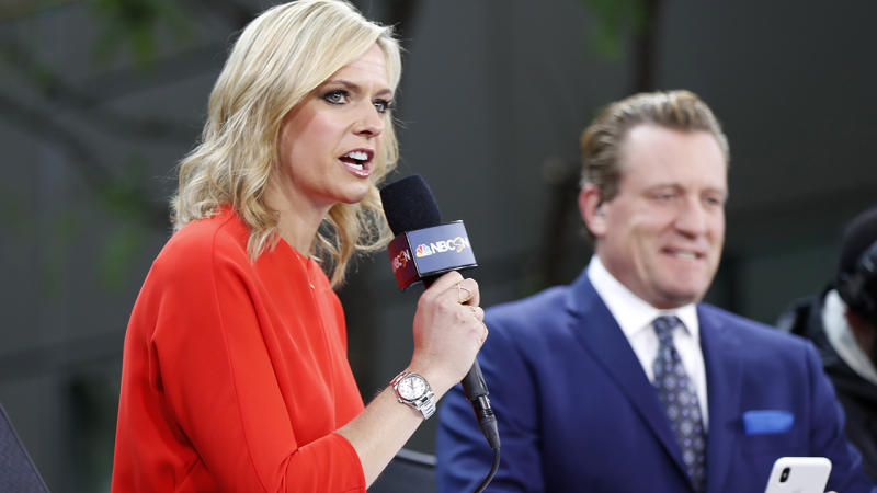 Kathryn Tappen and Jeremy Roenick, pictured here in commentary roles at the 2019 Stanley Cup Finals.