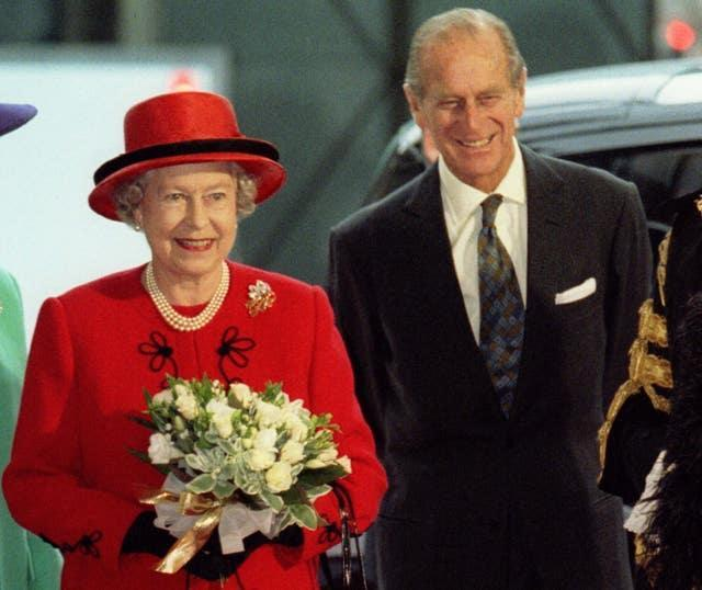 The Queen and Duke of Edinburgh marking their 50th wedding anniversary in 1997