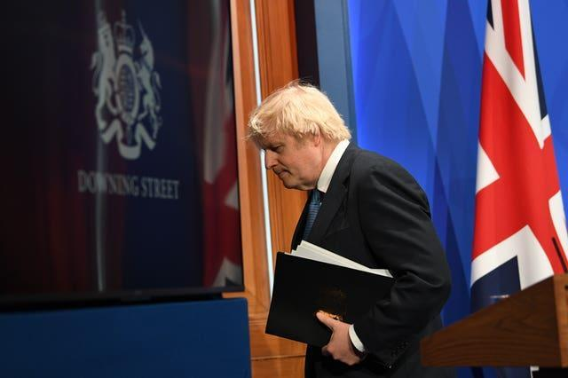 Boris Johnson made the critical comments about his mayoral successor at a Downing Street press conference about coronavirus