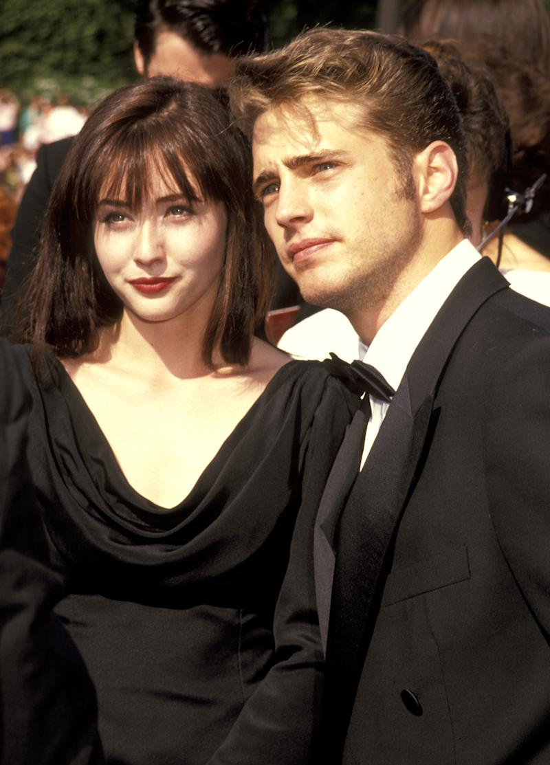 Shannen Doherty and Jason Priestley (Photo by Ron Galella/Ron Galella Collection via Getty Images)