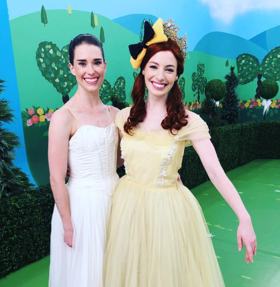 Yellow Wiggle Emma Watkins with Lachy's new girlfriend
