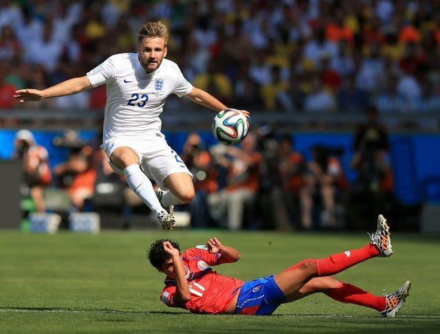 Luke Shaw in action at the 2014 World Cup