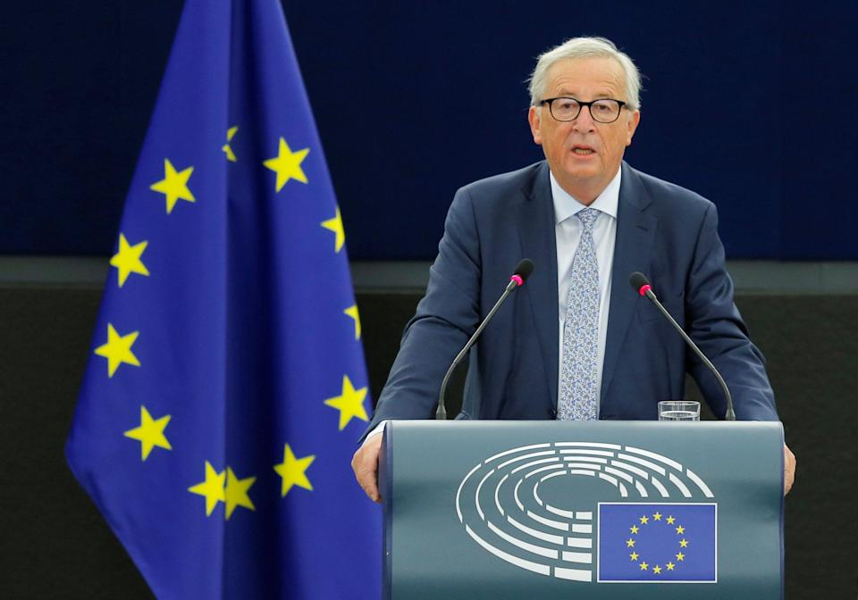 European Commission president Jean-Claude Juncker delivers his state of the union speech in Strasbourg (Reuters)
