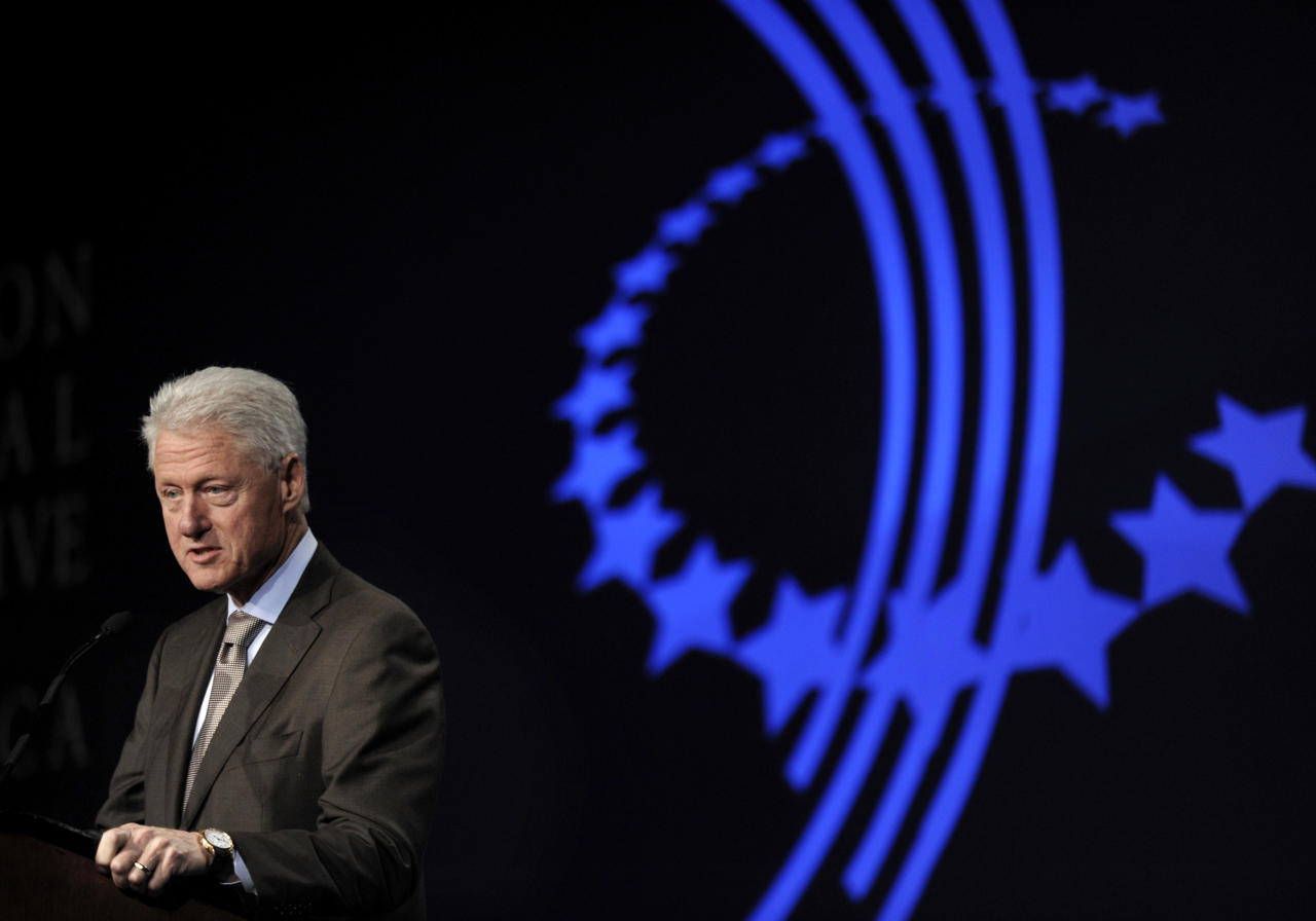 Former President Bill Clinton speaks during the closing session of The Clinton Global Initiative America meeting Thursday, June 30, 2011, in Chicago. More than 700 leaders from businesses, nonprofit, and all levels of government participated in the the two-day meeting which is focusing exclusively on driving job creation and economic growth in the United States. (AP Photo/Paul Beaty)