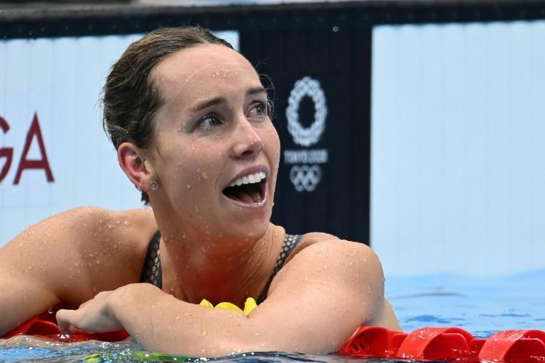 Australia's Emma McKeon won the women's 100m freestyle for her fourth medal in Tokyo
