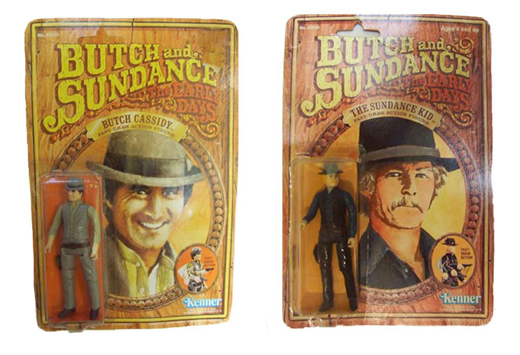 <p>We know how badly you'd like to stage the final Butch-and-Sundance shootout in your home, so we're sorry to inform you that these are not action figures of Paul Newman and Robert Redford; rather, Kenner introduced these cowboy figures in conjunction with the prequel 'Butch and Sundance: The Early Days,' so the characters look like Tom Berenger and William Katt, respectively. (Photo: Kenner)</p>