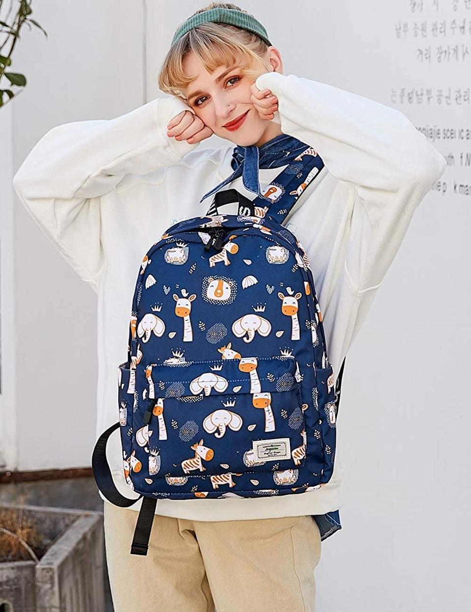 <p>Let your child make a statement with these fun and playful <span>Mygreen Child Printed Backpack</span> ($27). They come in a variety of prints, patterns, and colors. </p>